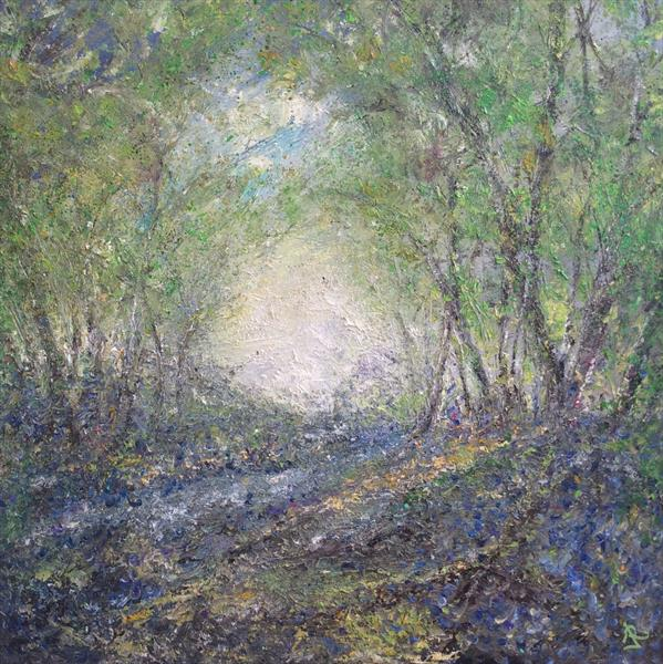 Dusk Bluebell Wood  by Janice  Rogers