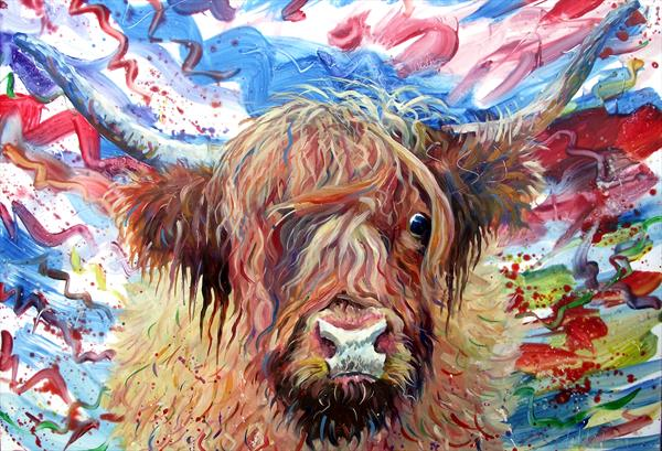 Hamish the Highland Coo by Dod Dow