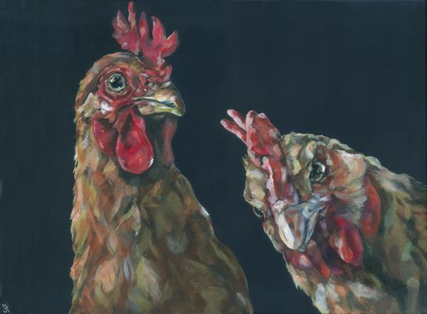Who You Callin Chicken?  (On display at the Art Gallery, Tetbury)