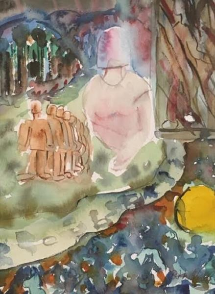'MEMORIES' a SURREAL WATERCOLOUR PAINTING by Beth Neal