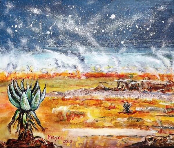Veldfire  and Aloes 2 by Meyer Van Rensburg