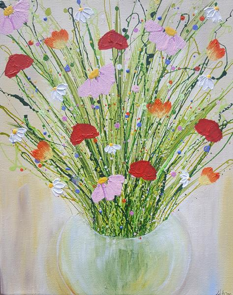 Spring Flower Bouquet by Lucy Moore