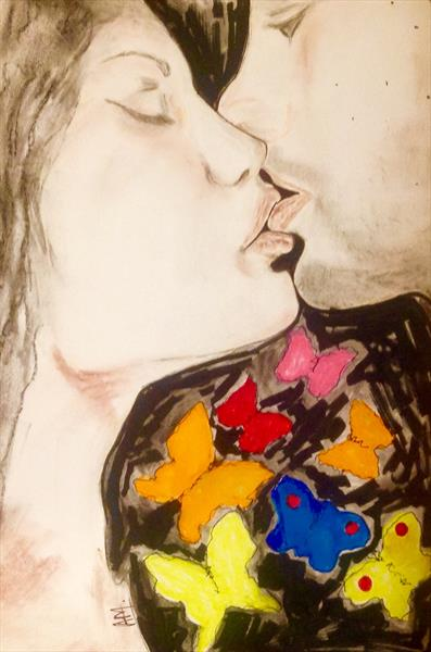 Kiss : from heart to head study 2 by Anushree Mish