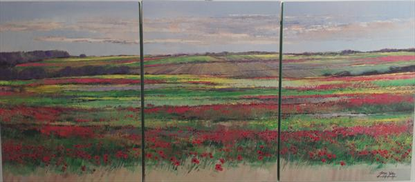 Poppy Field Triptych by James Yates