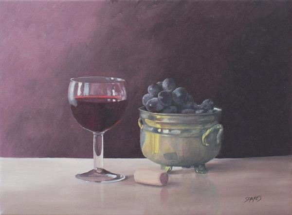 Purple Grapes & Red Wine 2 by Ian Soames
