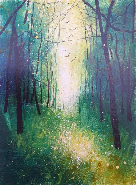 Seasons - Spring Woodland View by Teresa Tanner