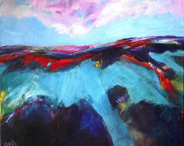 Turquoise landscape by Gill Aitken