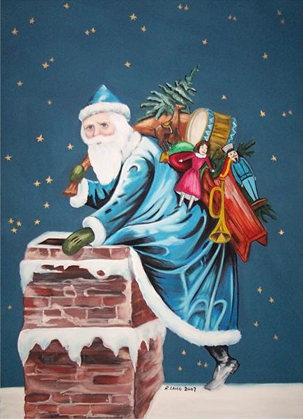 Santa Claus in Blue #2
