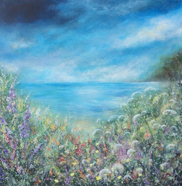 Wild Meadow with Sea View