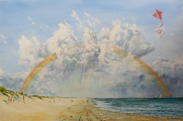 A Rainbow over Sandbanks by Joe Trodden