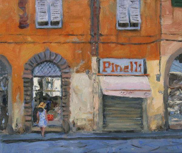 Street scene, Lucca, Italy by Daniel Rodgers