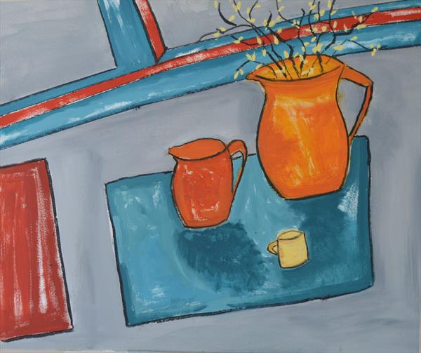 Two Jugs and a Cup by Melissa Pentney