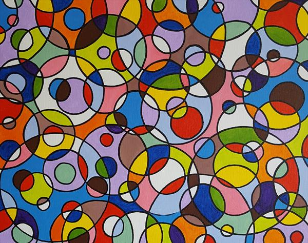 Abstract circles 5 by Lee Proctor