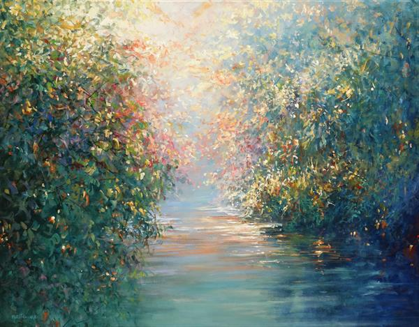 Secret River (on display at Art Gallery Tetbury) by Mariusz Kaldowski