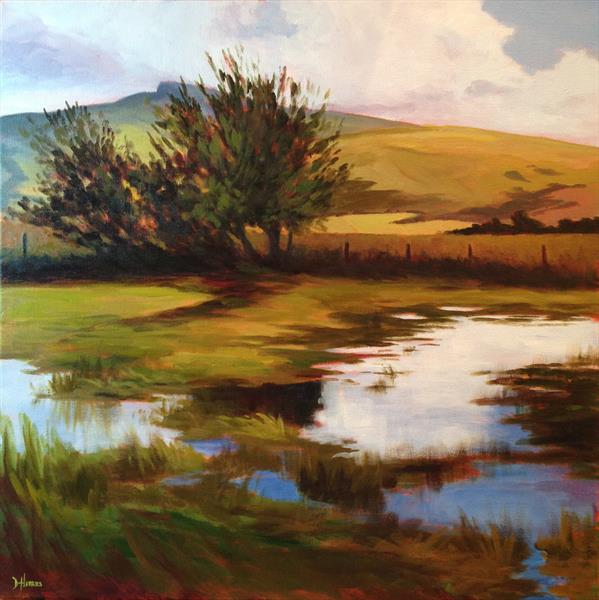 Brecon Beacons Reflection by Dawn Harries