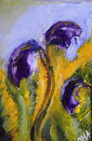 Purple flowers by Gill Aitken