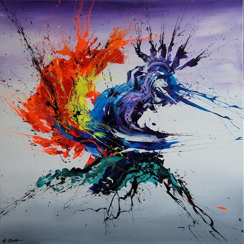 Clash Of Elements (Spirits Of Skies 100047) (100 x 100 cm) XXL (40 x 40 inches) by Ansgar Dressler