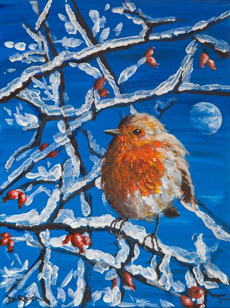 Wise Winter Robin by Dorothy Reich