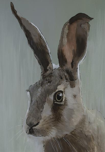 Green Hare Limited edition print by Paul Hardern