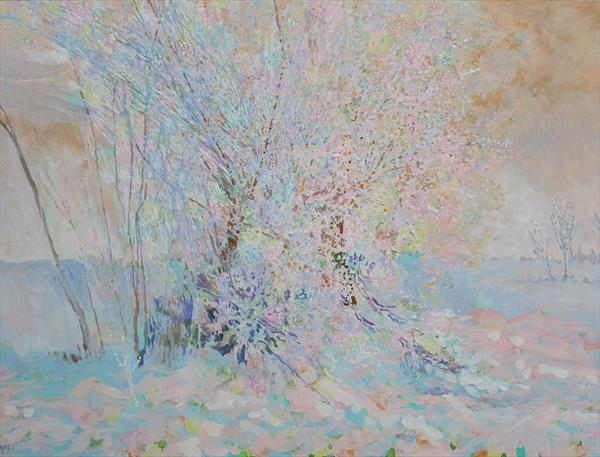 sunshine on frost and snow by Veronica  Haldane