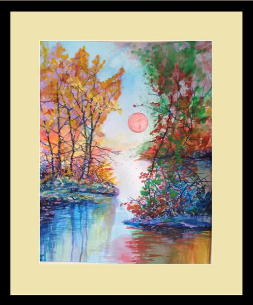 Reflections of the Pastel Sun by David King