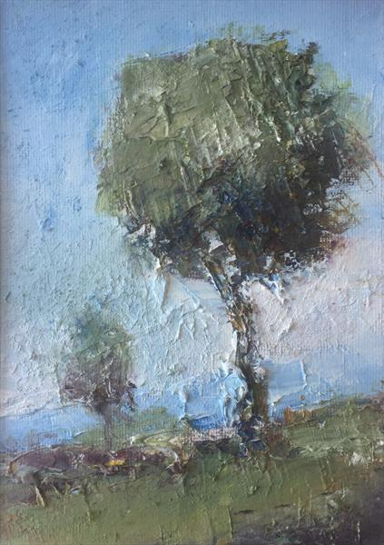 Trees in the Summer Haze by Alan Daysh