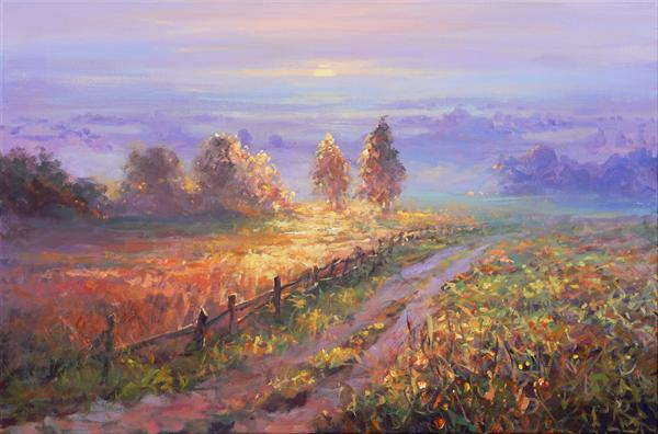 Country Impressions (On Display At Art Gallery, Tetbury) by Mariusz Kaldowski