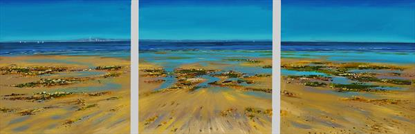 Coastal Colours Triptych by Sandra Francis