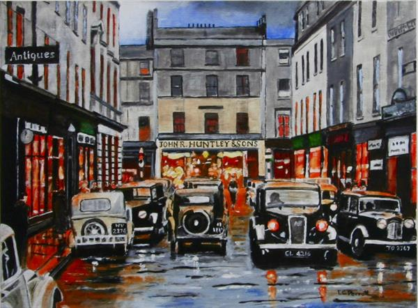 New Bond St. Bath 1930s Giclee Print Limited Edition No.4/100. by Ernest George Perrott