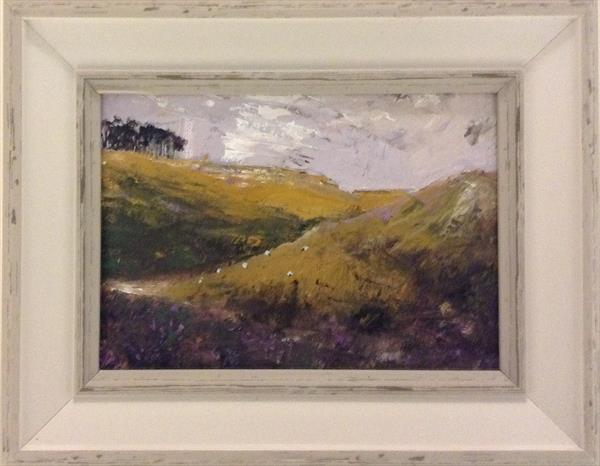 Golden bracken - a moorland vista (framed)