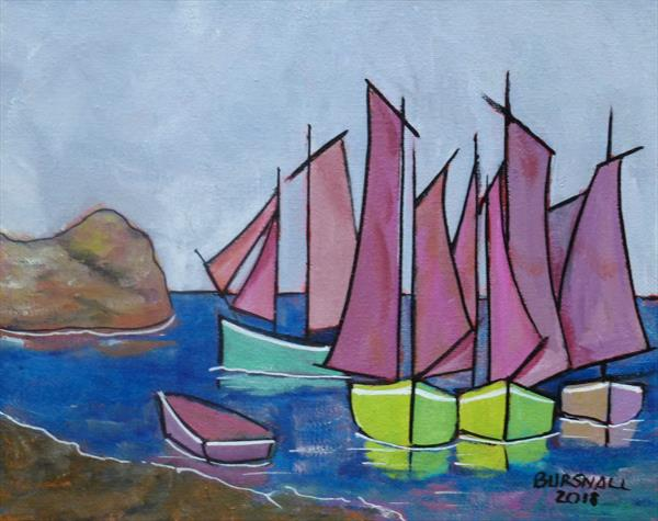 Galway sails by Paul Bursnall