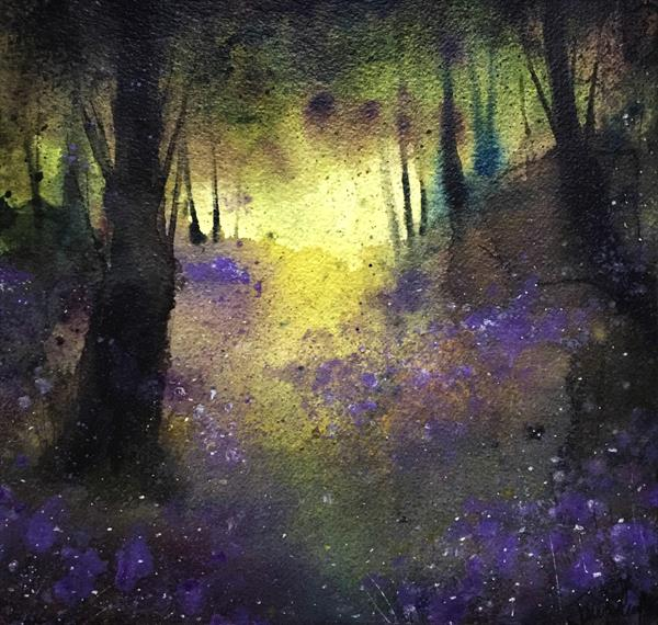 Where The Bluebells Sing - A Peaceful Ethereal Woodland Forest Scene by Jennifer Taylor