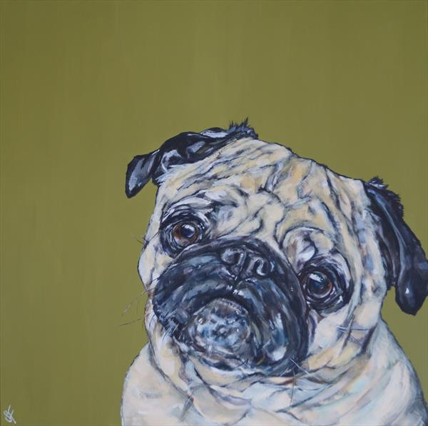 Pug Hug by Sam Fenner