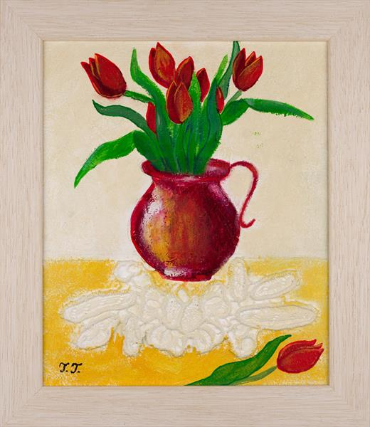 Red Tulips by Teodora Totorean