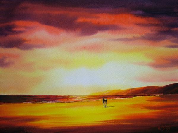 lovers at sunset by Ricky Figg