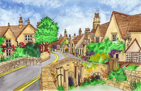 Castle Combe by Mike  Davis
