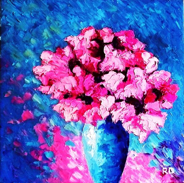 Vase of Beautiful Flowers by Rumen Dragiev