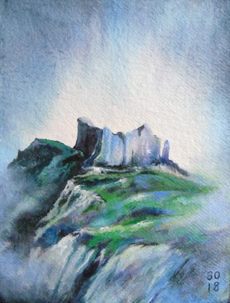 The Mood of Carreg Cennen Castle by Super Cosmic