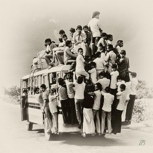 Overloaded Bus. Orissa. India by Peter Bowater