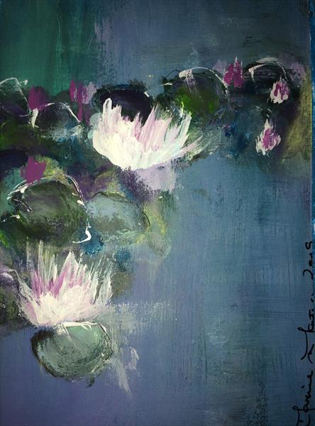 Waterlilies V by Maxine Martin