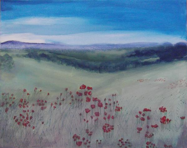 Evening walk on the hills by Helena Manchip