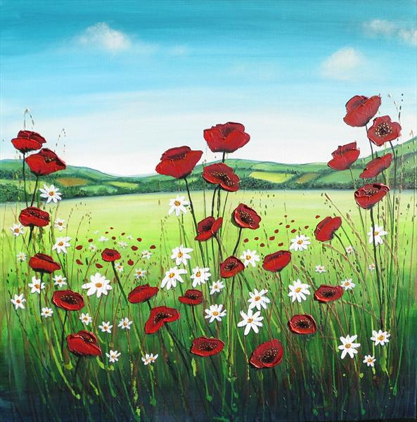 Spring Poppy Field - On Display At Malvern Theatres