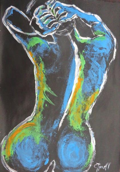 Styling Her Hair 1 - Female Nude by Carmen Tyrrell