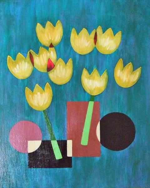 Tulips in Vases by Mary Ballentine