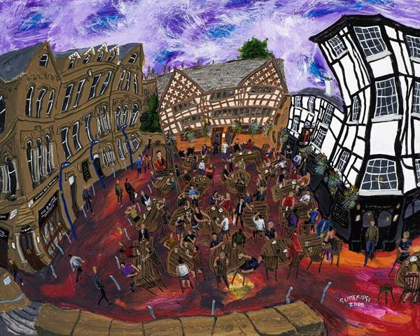 Shambles Square, Manchester, No. 6 by Michael  Gutteridge