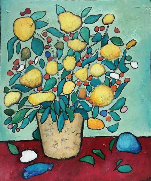 Lemon flower by Eileen Kiely