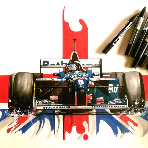 Damon Hill 02 by Sean Wales