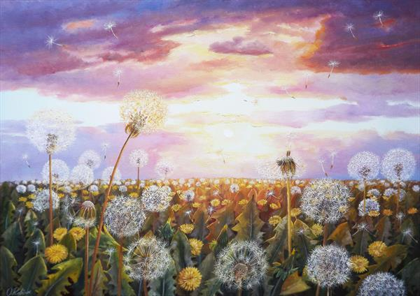 Dandelions in the Sun 3 by Oleg Riabchuk