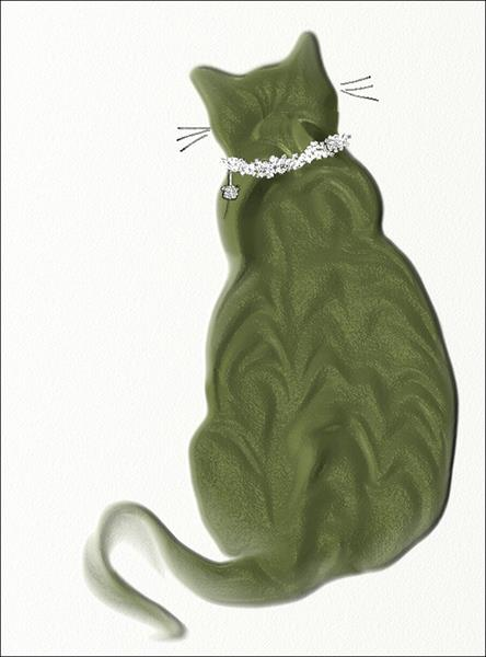 Cat in a Collar by Ann Mcphillips