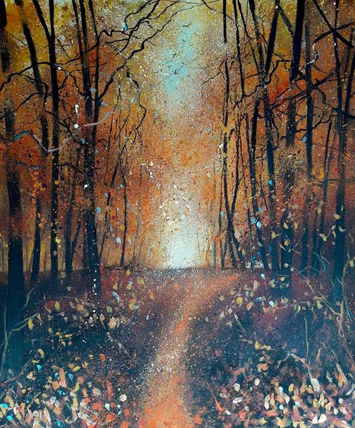 Falling leaves of Autumn by Teresa Tanner